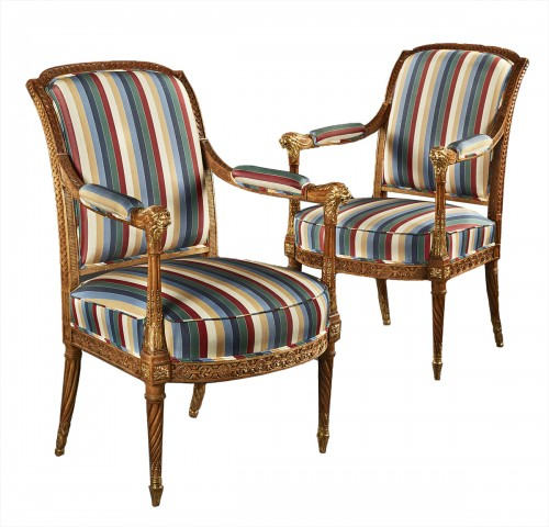 Pair of Louis XVI period fauteuils