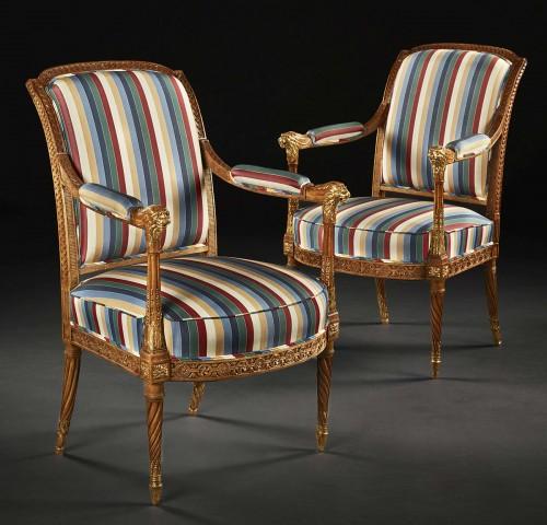 Pair of Louis XVI period fauteuils - Seating Style Louis XVI