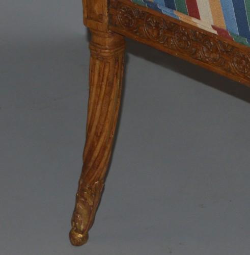 18th century - Pair of Louis XVI period fauteuils