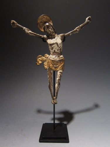 A Gothic bronze figure of a Cristo Morto, Spain, XVth century