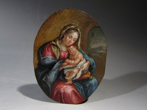 Madonna and Child, Italy or Netherlands, late XVIIth century