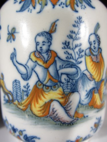 Porcelain & Faience  - A faïence jar with Chinoiseries decoration, Alcora 1735-60