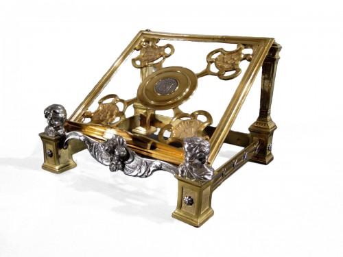 An XVIIIth century gilt bronze and silver lectern