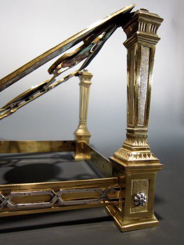 18th century - An XVIIIth century gilt bronze and silver lectern