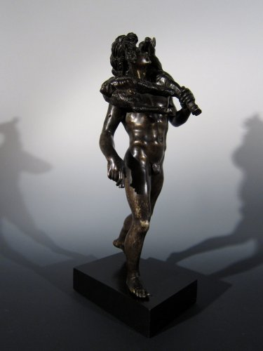 Faun with goat, France or Italy, circa 1800, after the Antique - Sculpture Style