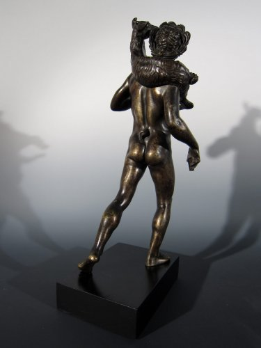 Sculpture  - Faun with goat, France or Italy, circa 1800, after the Antique