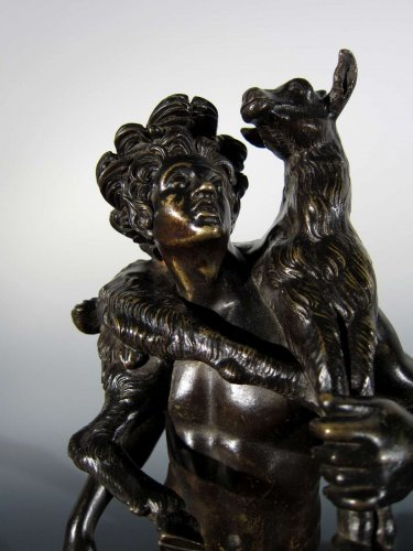 19th century - Faun with goat, France or Italy, circa 1800, after the Antique