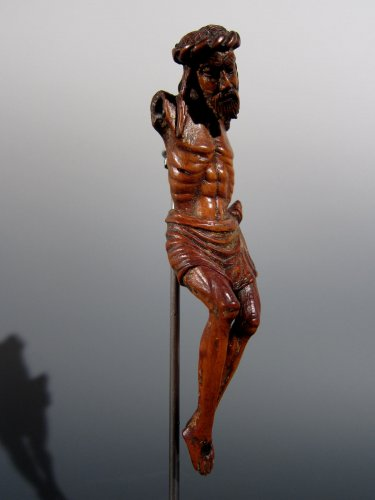 16th century - Miniature Gothic Christ, XIVth century