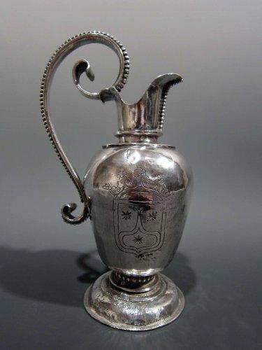 Heraldic silver cruet, circa 1600 -