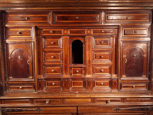 Furniture  - Spanish Baroque architectural cabinet on stand, 17th century