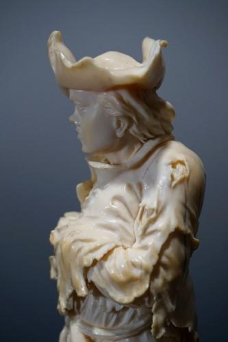 Sculpture  - Pair of ivory sculptures, German School, XVIIIth century