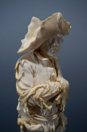 18th century - Pair of ivory sculptures, German School, XVIIIth century