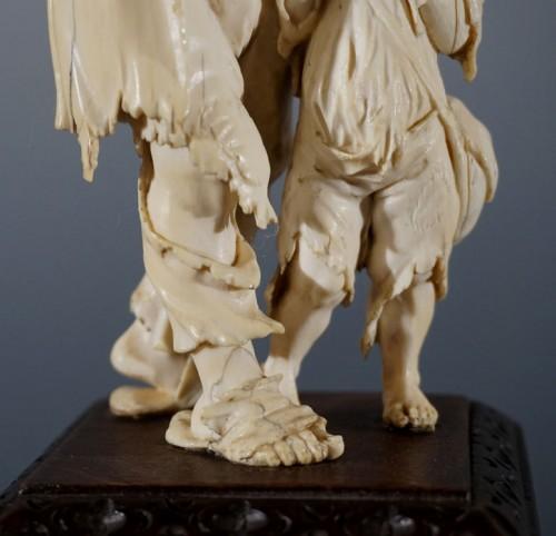 - Pair of ivory sculptures, German School, XVIIIth century