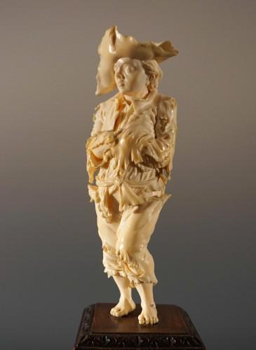 Antiquités - Pair of ivory sculptures, German School, XVIIIth century