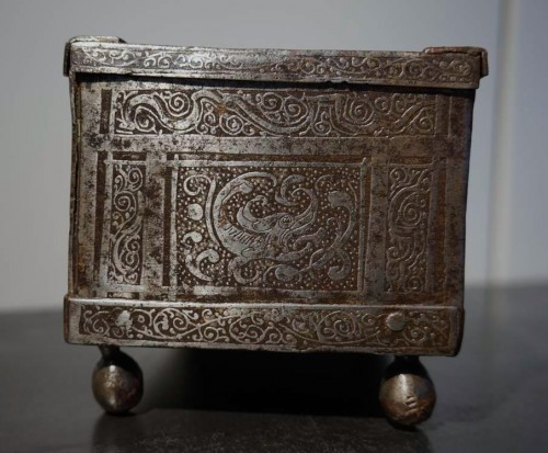 Antiquités - A Nuremberg casket with etched decoration, circa 1600