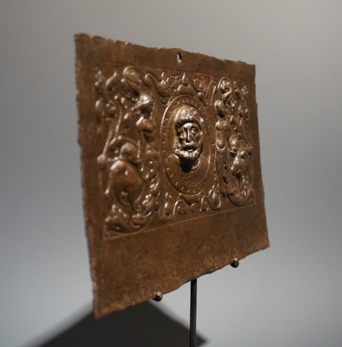 Curiosities  - Renaissance plaque with a bust of Hercules, circa 1520-30