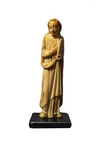 Medieval ivory figure of a Saint, North of Spain, XI-XIIth century