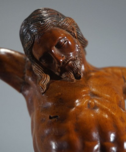 Boxwood Christ, Netherlands or Germany, late 16th century - Sculpture Style Renaissance