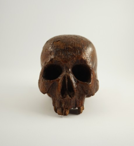 Baroque carved wood Memento mori, 17th century -
