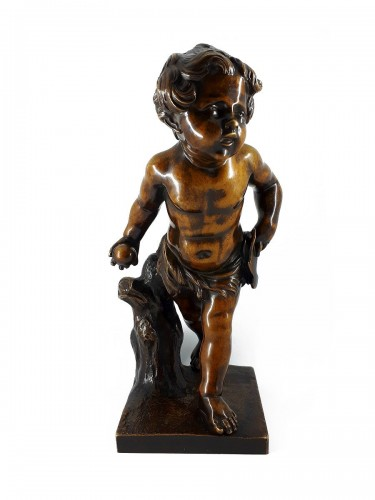 Boy playing with a ball, French school, XIXth century
