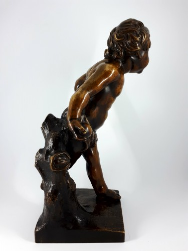 Sculpture  - Boy playing with a ball, French school, XIXth century