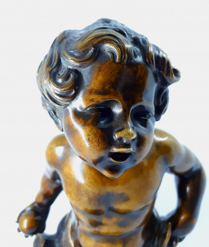 Boy playing with a ball, French school, XIXth century -