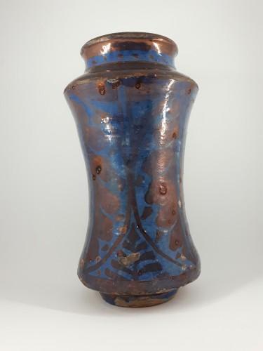 Hispano-Moresque lustre pottery albarello, Manises, late XVth century - Porcelain & Faience Style