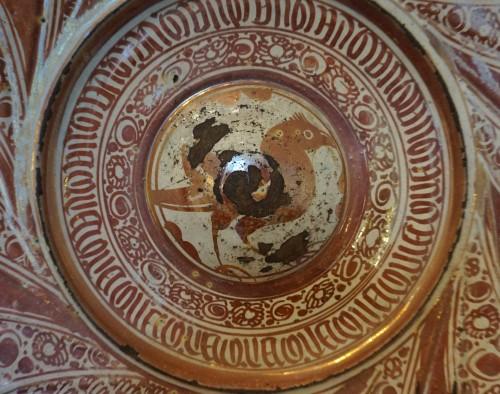 Porcelain & Faience  - Large Hispano-moresque lustreware dish, Spain, 16th century