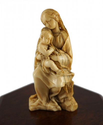 Ivory Virgin and Child, Germany or Netherlands circa 1650