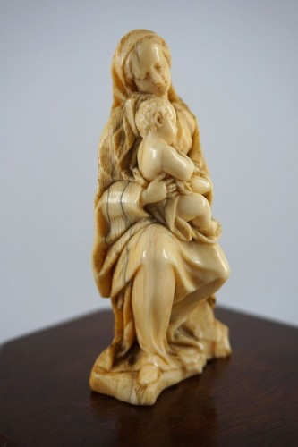 Sculpture  - Ivory Virgin and Child, Germany or Netherlands circa 1650