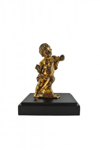 Gilt bronze figure of a Baroque cherub, 17th century