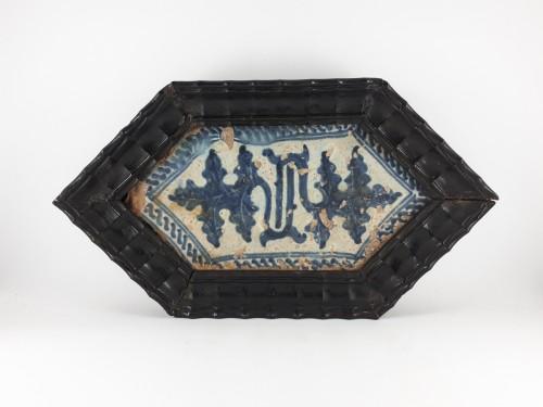 Carreau gothique, Manises XVè siècle - Porcelain & Faience Style Middle age