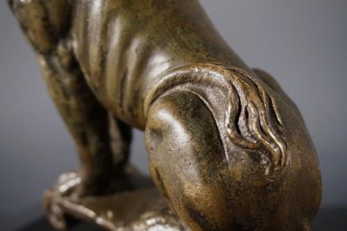 Sitting bronze lion, German School, circa 1600 - Sculpture Style Renaissance