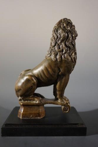 Sitting bronze lion, German School, circa 1600 -