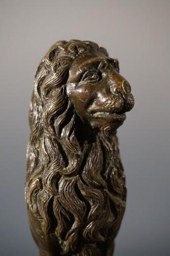 17th century - Sitting bronze lion, German School, circa 1600