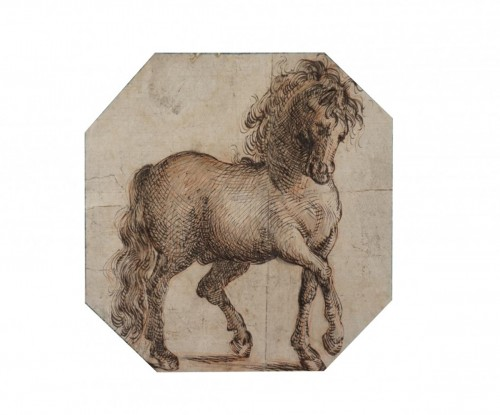 Study of a horse, Italian School 17th century