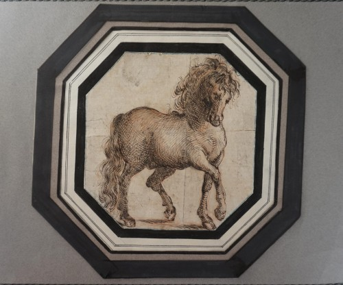Study of a horse, Italian School 17th century - Paintings & Drawings Style