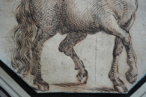 Study of a horse, Italian School 17th century -