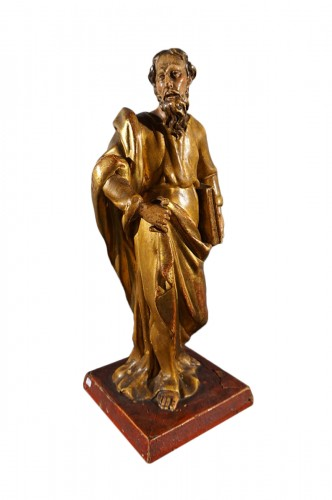Saint Paul, gilt and polychrome wood, XVIIth century