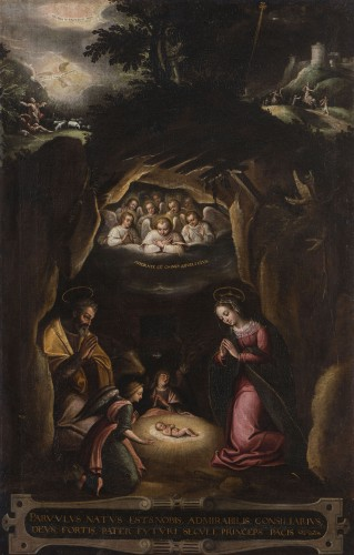 Nativity, Spanish School, circa 1600