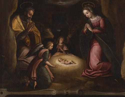Nativity, Spanish School, circa 1600 - Paintings & Drawings Style