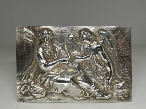 Antique Silver  - Set of four silver plaquettes with the Evangelists, XVIIth century