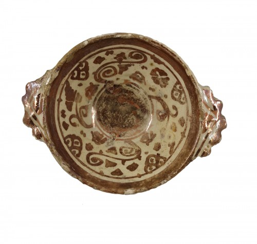 Hispano-moresque bowl, Manises 17th century