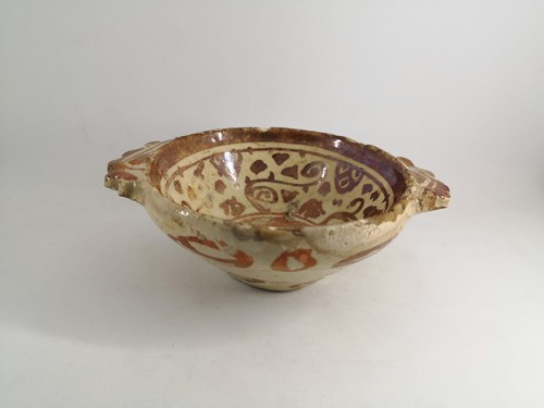 Hispano-moresque bowl, Manises 17th century - Porcelain & Faience Style