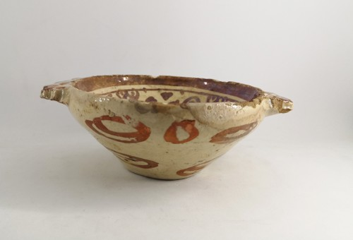 Porcelain & Faience  - Hispano-moresque bowl, Manises 17th century