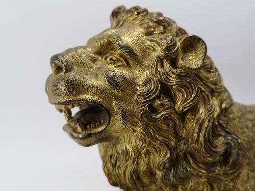 Renaissance gilt bronze lion, Augsburg 16th century - Renaissance