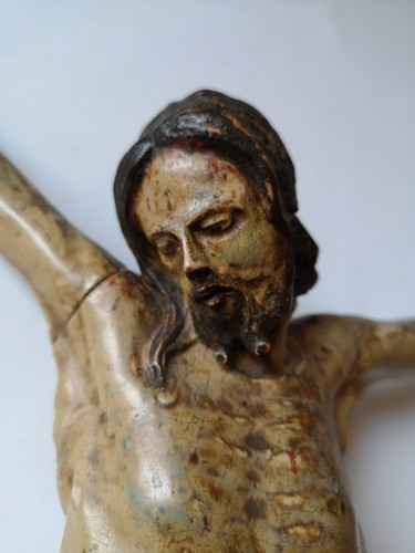 Baroque Christ in polychrome wood, Tyrol, XVIIth century -