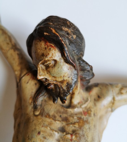 17th century - Baroque Christ in polychrome wood, Tyrol, XVIIth century