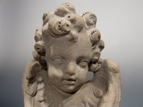 Baroque marble bust of an angel, Italy, 17th century -