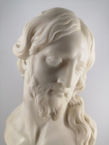 Sculpture  - Bust of Christ in white marble, Italian School 18th century